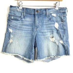 Anthropologie Pilcro Distressed Raw Hem Shorts